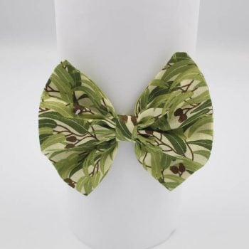 Handmade hair bow in Eucalyptus print