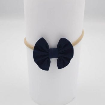 newborn baby girl headbands in navy coloured print