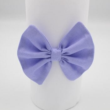 Fabric purple headband with elastic
