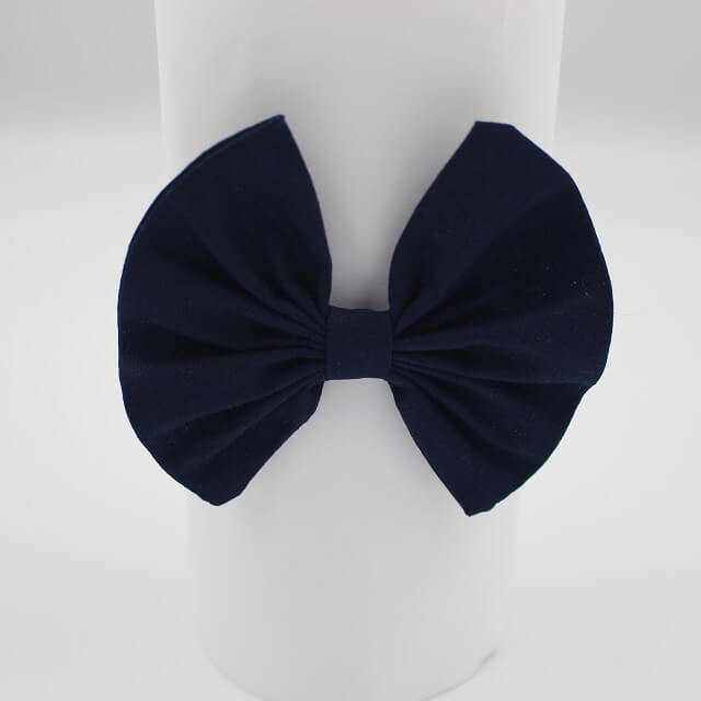 Toddler hair accessories in Navy coloured fabric