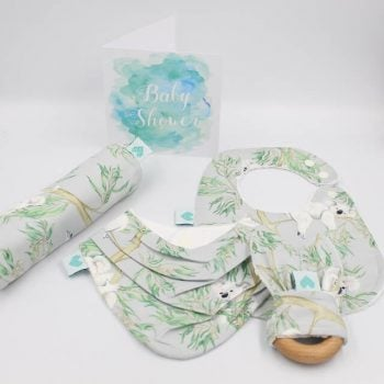 Australian themed newborn baby boy gifts in koala print