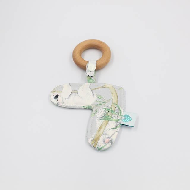 Love Heart Teething ring in Koala