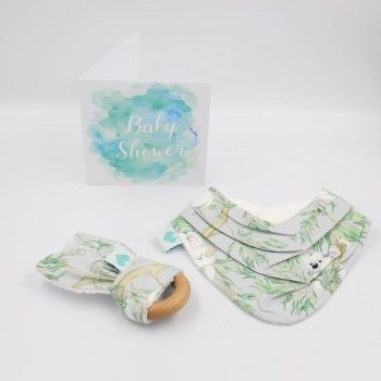 Mini baby shower gifts set in koala print