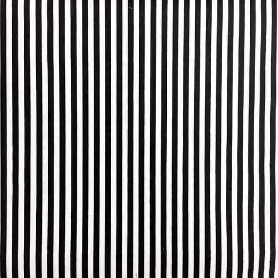 Black and White Stripes Fabric Print