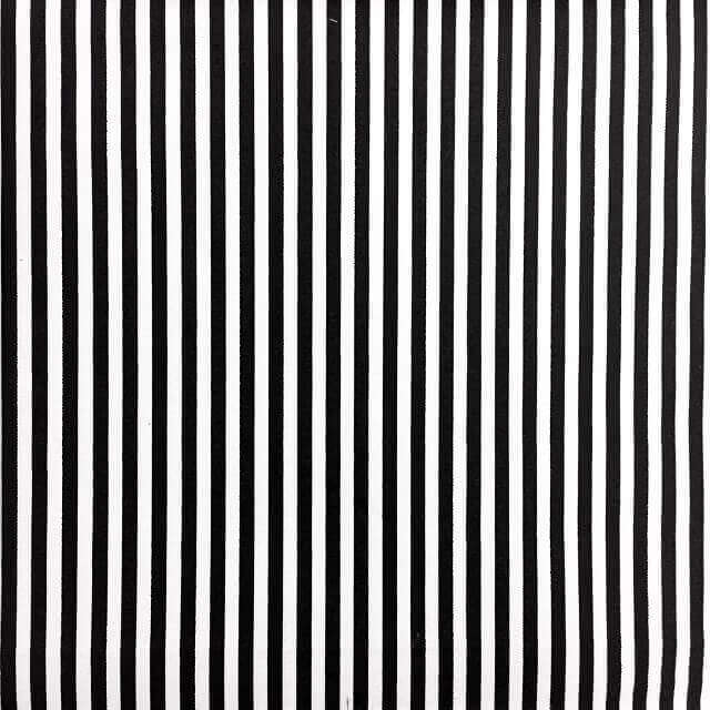 Fabric Print on Black and White Stripes
