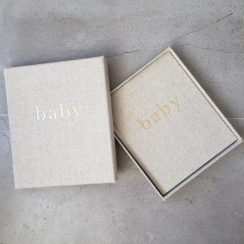Baby Journal and Linen Box