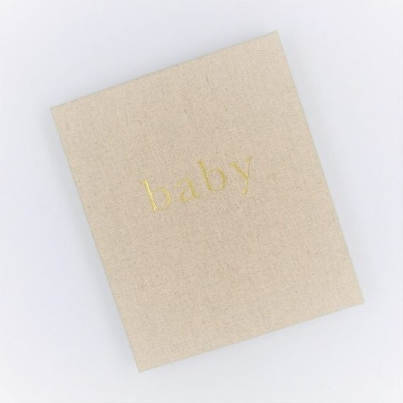 Baby Journal Linen the first year
