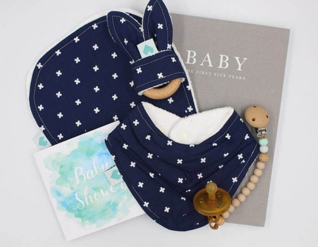 Deluxe Baby Gifts in Crosses Print