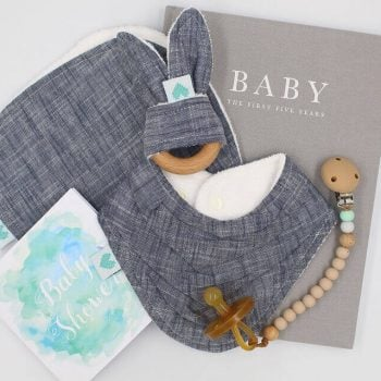 Deluxe Baby Gifts in Indigo Print
