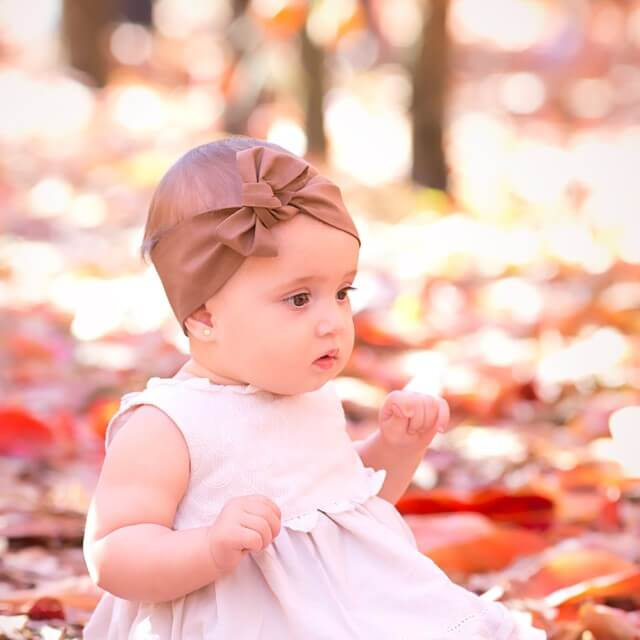 Top Knot hair accessories with baby