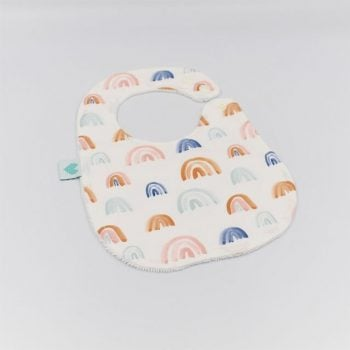 Baby Bibs in Rainbows Print