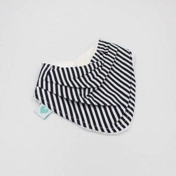 Black and white stripes bandana bibs