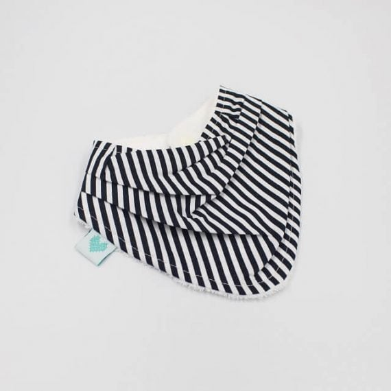 Bandana Bibs in black and white stripes