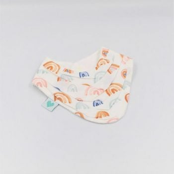 Bandana baby bibs in Rainbows Print