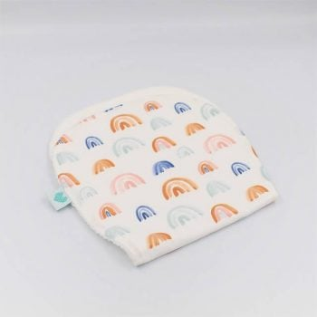 Burp Cloths in Rainbows print