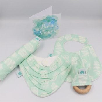 Feathers print baby gift ideas suitable for baby boys