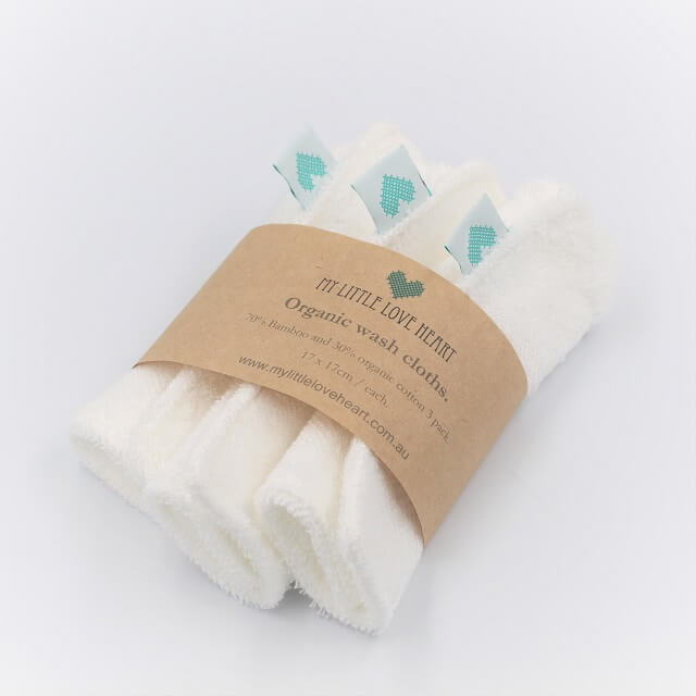 Baby Washcloths in cotton bambo mix