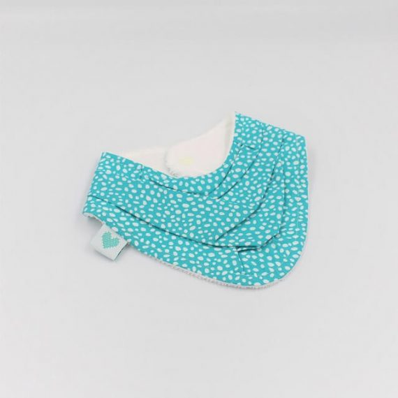 Triangle bib in Abstract dots