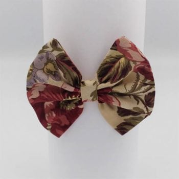 Vintage print hair accessory