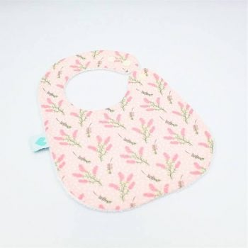 baby bib in botanical print