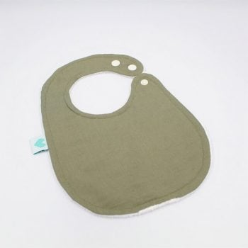 baby bibs in sage plain colour