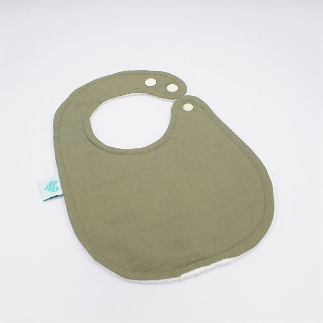 baby bibs in sage colour
