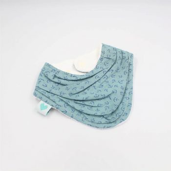 baby neckerchief bibs in anchors print