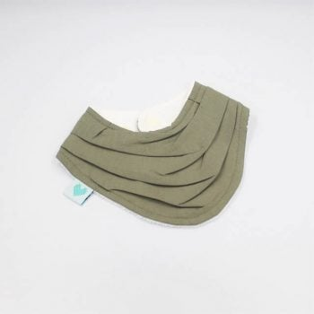 triangle bibs in sage colour