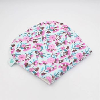 burp cloths in floral gumnuts