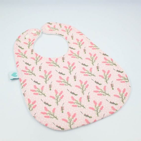 Toddler bibs in botanical print