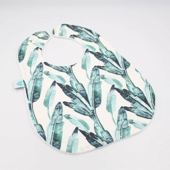 leaf big bib print