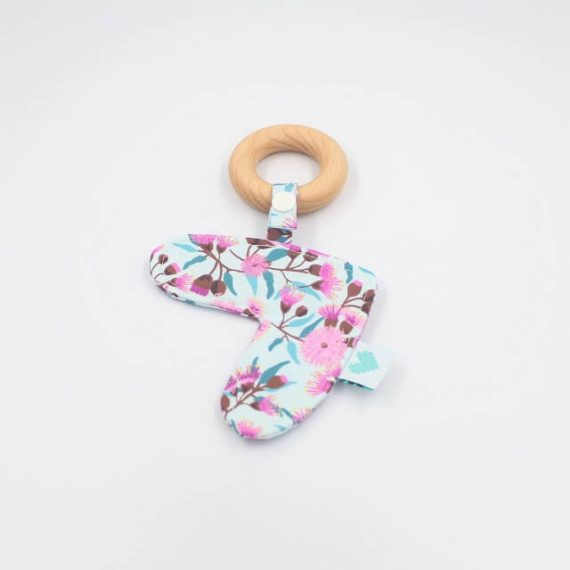 Floral Gum nuts love heart teether