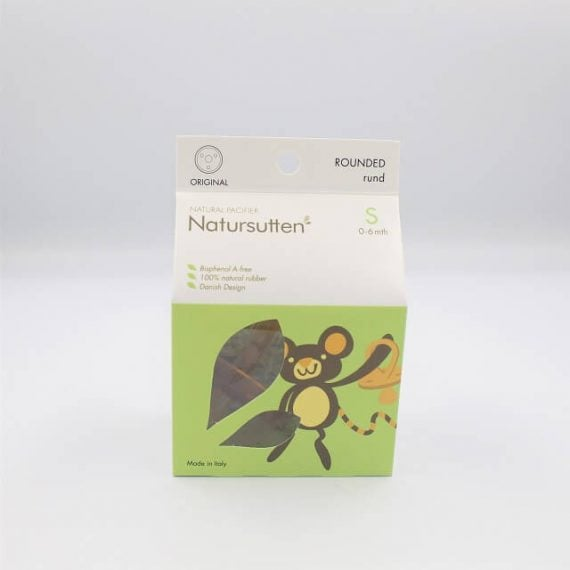 Small round natursutten dummy packaging