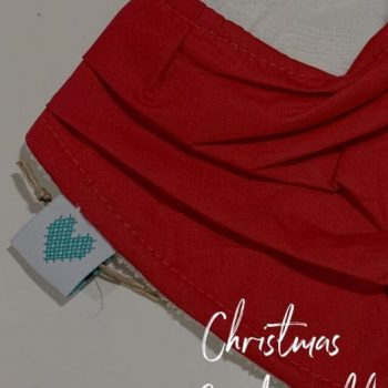 Christmas bibs in red