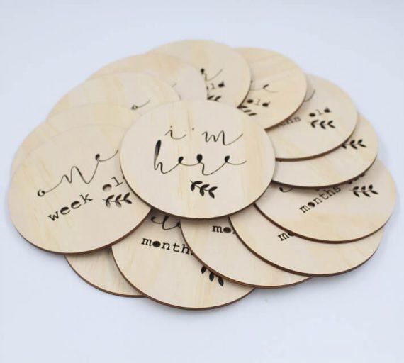 Wooden milestone discs