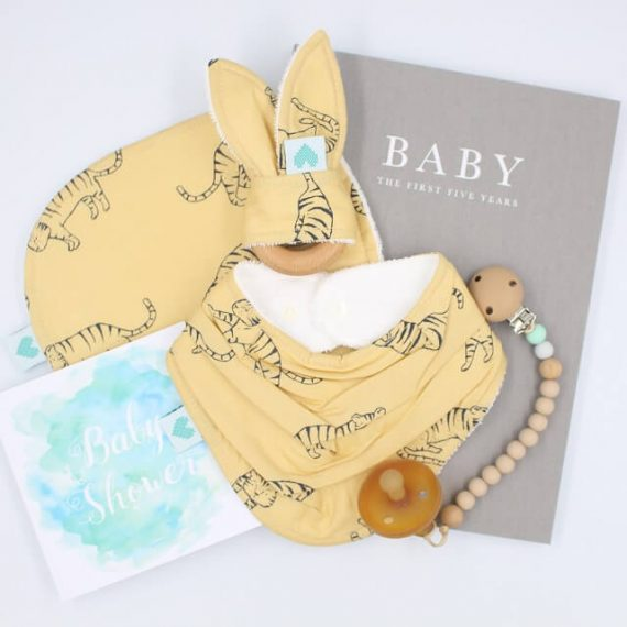 deluxe tiger print baby shower present
