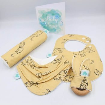 baby boys gift set in tiger print