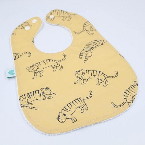 big bib in tigers print