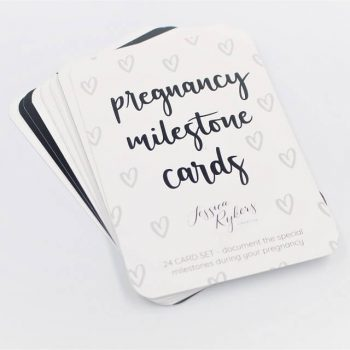 Pregnancy milestone cards set of 24