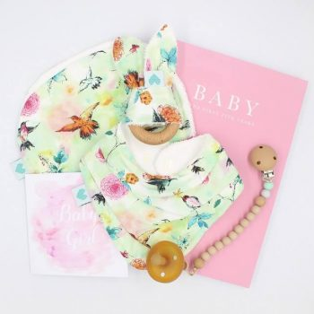 Luxury baby girl gifts birds print