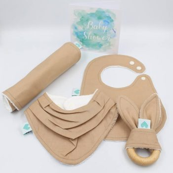 baby boy gift set tan brown colour