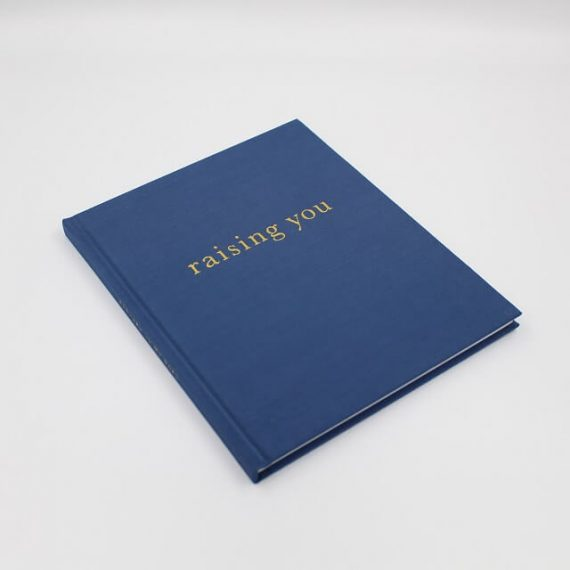 Baby journal book in navy blue