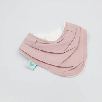 bandana bib dusty pink colour