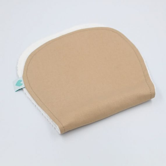 burp cloth in tan brown colour