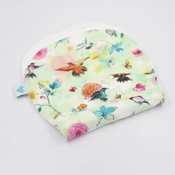 burp cloths in birds print