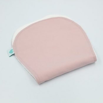 burping rag in dusty pink colour
