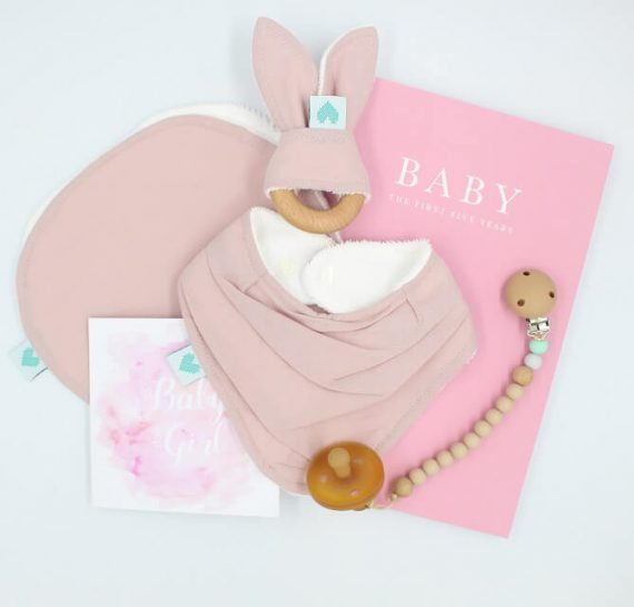 deluxe baby presents dusty pink colour