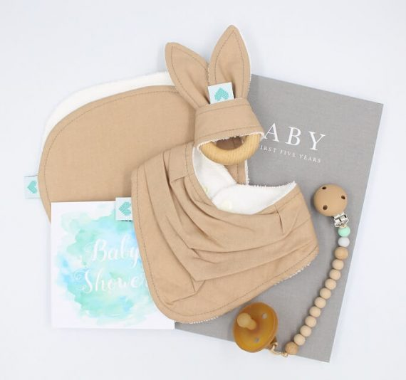 deluxe baby shower gift tan brown colour