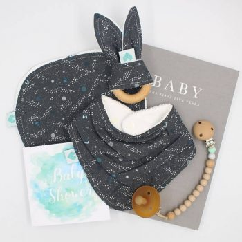 deluxe boys baby gift space print