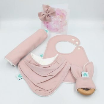 gift for baby girl in dusty pink colour